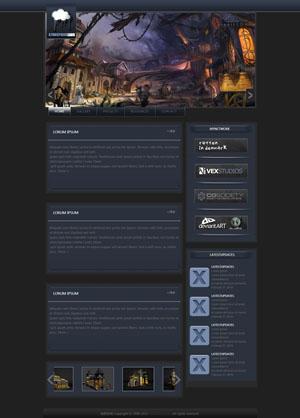 某某游戏设计网站